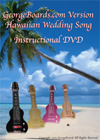 hawaiian wedding song button